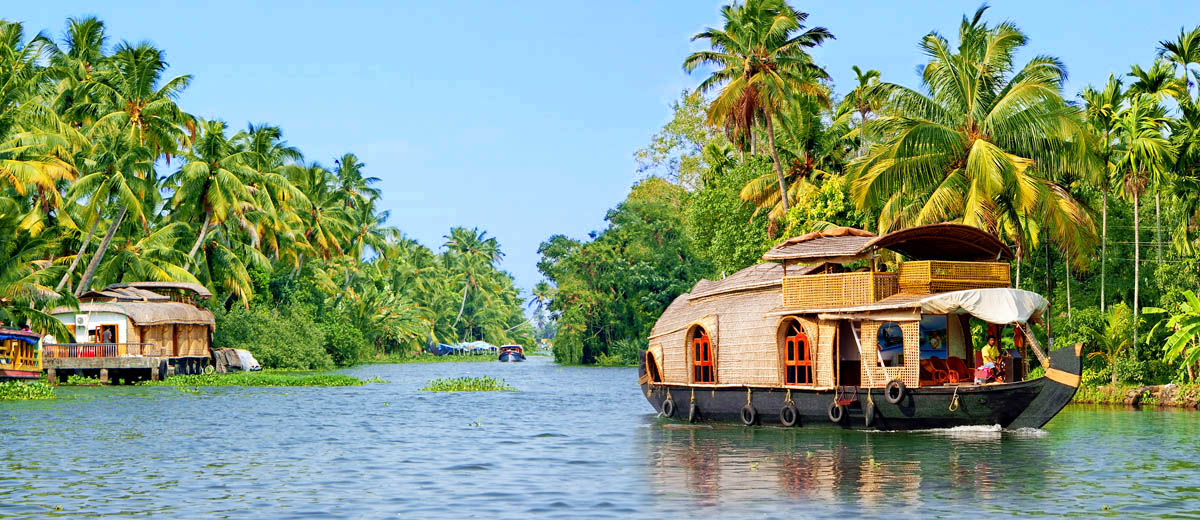 vacances en groupe inde backwaters houseboat