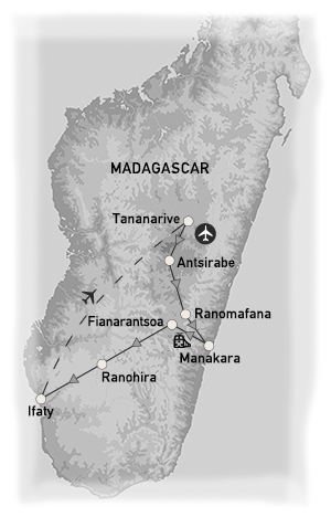 partir en groupe madagascar carte