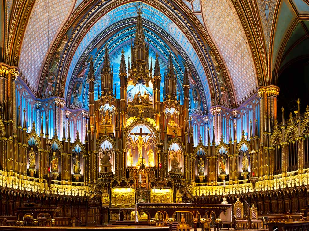 voyager groupe canada visite basilique montreal